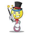 magician rattle toy mascot cartoon vector image