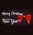 merry christmas greeting card realistic red vector image