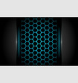 modern dark navy background 3d abstract style vector image vector image