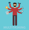 Multitasking Human resource and self employment - vector image vector image
