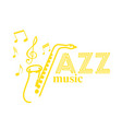 music jazz saxophone background image vector image vector image