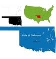 Oklahoma map vector image vector image