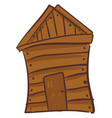 painting a brown wooden house or color vector image vector image