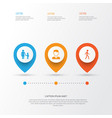 person icons set collection of jogging family vector image vector image