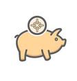 piggy icon bank banking earning money savings vector image vector image