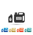 plastic canister for motor machine oil icon vector image vector image