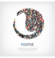 positive people sign 3d vector image vector image