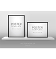 Poster template vector image vector image