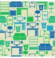 Seamless pattern with office furniture vector image