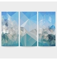 Set of blue abstract backgrounds triangle design vector image