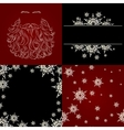 set of cristmas background snowflake santa beard vector image vector image
