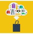 shopping bag man vector image vector image