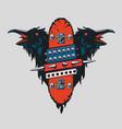 skateboard vintage poster skate punk emblem vector image vector image
