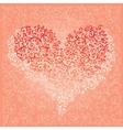 St Valentine Love Red Heart Card 5 vector image vector image