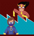 superhero womens cartoon vector image