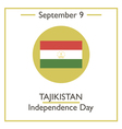 Tajikistan Independence Day vector image vector image
