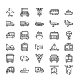 Transport Colored Icons 3 vector image vector image