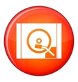 Turntable icon flat style vector image vector image