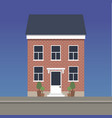 two-story classic house made of red brick vector image vector image