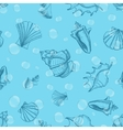 Underwater seamless pattern with shells and vector image