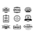 variety badge elements set vector image vector image