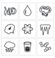 Various physical state of water icons set