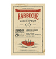 Vintage birthday party barbecue invitation vector image vector image