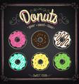 vintage poster donuts set vector image vector image