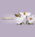 white magnolia romantic floral advertising vector image vector image