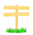 Wooden pointer in the green grass vector image vector image