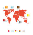world population statistic vector image vector image