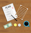 write financial plan vector image