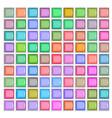 3d square mosaic vintage colorful texture vector image