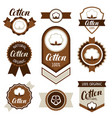 cotton badges banners and emblems clothing vector image
