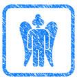 gambling angel framed grunge icon vector image