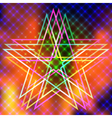 Abstract background with flames and star vector image