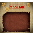 wild west wanted poster on wooden background vector image