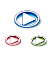 3d glossy play icon vector image vector image