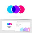 abstract colorful circles logotype three element vector image vector image