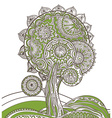 Abstract ornamental magic tree vector image