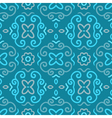 Abstract seamless pattern with vintage blue vector image vector image