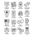 advertising and media icons vector image
