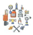 auto repair icons set cartoon style vector image