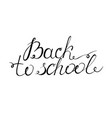 back to school lettering the phrase is written by vector image