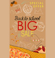 back to school sale modern background with autumn vector image vector image