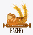 Bakery dessert and milk bar design vector image