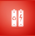 battery with recycle symbol - renewable energy vector image vector image
