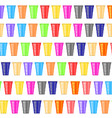 beer pong tournament colorful plastic cups fun vector image