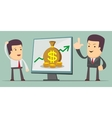 Business Growth Chart - a man at the presentation vector image