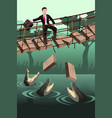 business risk concept vector image